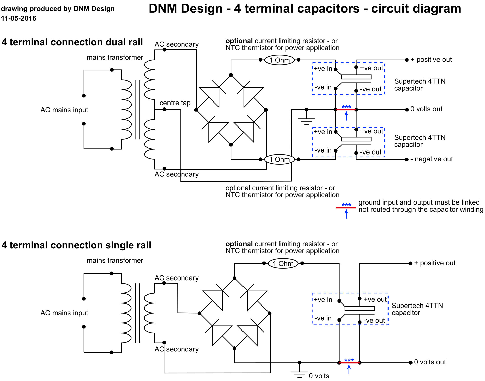 Dnm Products Capacitors Overview Wiring Diagram In Addition Ac Dual Capacitor Circuit For Use Of 4ttn Rail And Single Circuits Shown A New Window